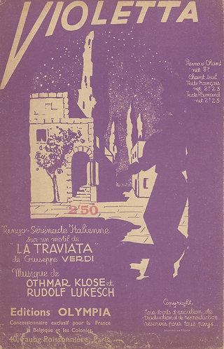 Giuseppe Verdi   Othmar Klose   Violetta   Vocals