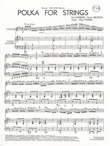 Fud Candrix | Emile Deltour | Polka for Strings | Piano