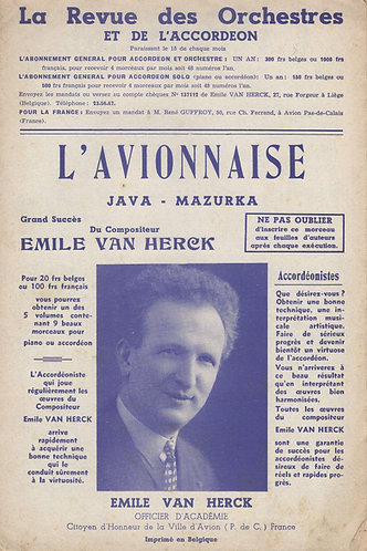 Emile van Herck | L'Avionnaise | Piano | Accordion