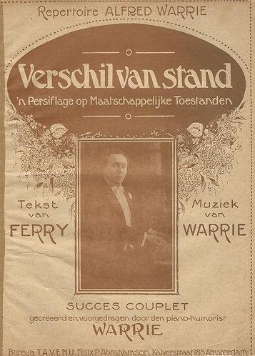 Warrie | Verschil van stand | Piano | Vocals