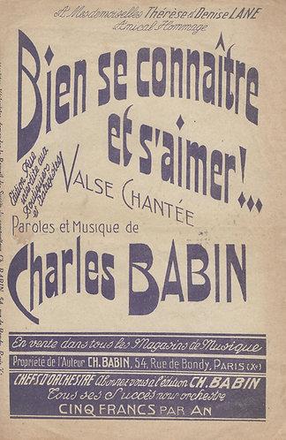 Charles Babin   Bien se connaitre et s'aimer   Chanson   Vocals