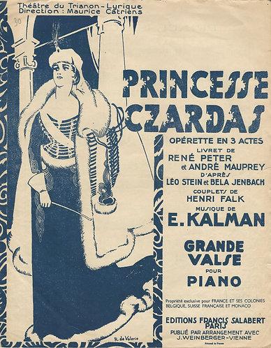 Emmerich Kalman | Princesse Czardas | Grande Valse | Piano