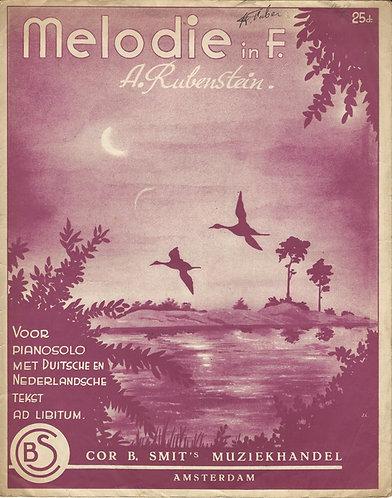 Anton Rubinstein   Melodie in F   Piano   Vocals