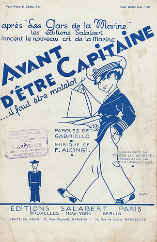 F. Alongi   Avant d'etre Capitaine   Chanson