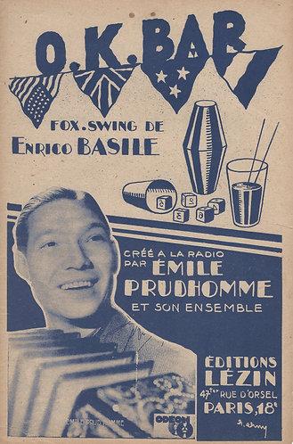 Emile Prud'homme | Enrico Basile | OK Bar | Accordion