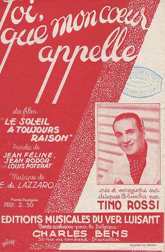 Tino Rossi | F. di Lazarro | Toi, que mon coeur appelle | Chanson
