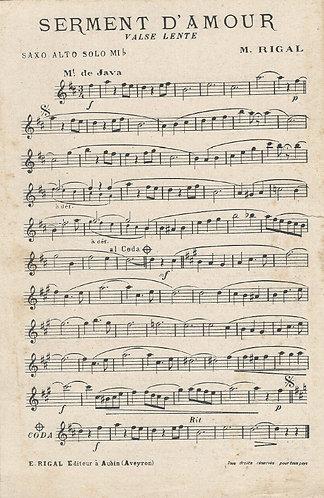 M. Rigal | Serment d' Amour | Orchestra