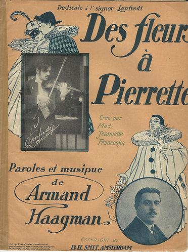 Armand Haagman | Des fleurs a Pierrette | Piano | Vocals