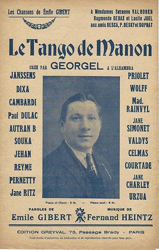 Georgel | Fernand Heinz | Le Tango de Manon | Chanson