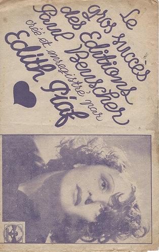 Edith Piaf | Gaston Claret | L'Amour est comme une chanson | Chanson