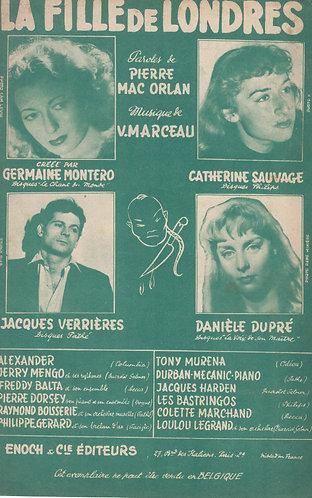 V. Marceau   Catherine Sauvage   La Fille de Londres   Chanson