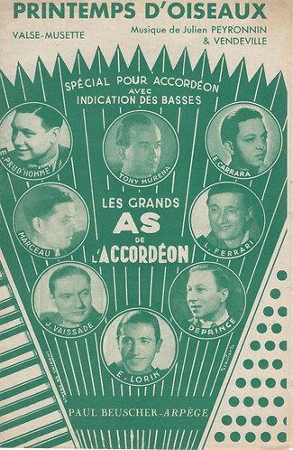 Julien Peyronnin   Vendeville   Printemps D'Oiseaux   Piano   Accordeon