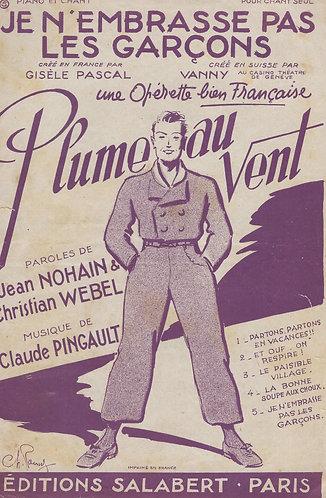 Claude Pingault | Je n'embrasse pas les garcons | Chanson