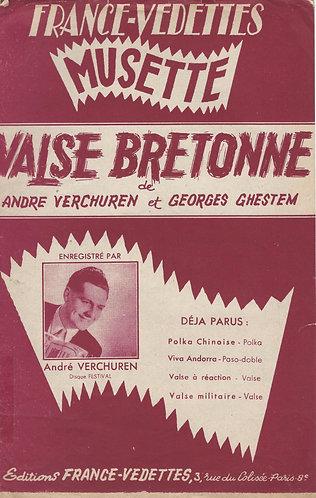 Andre Verchuren   G. Ghestem   Valse Bretonne   Piano   Accordeon