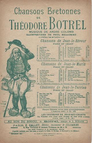 Theodore Botrel | A. Flegier| Chansons Bretonnes | Stances | Vocals