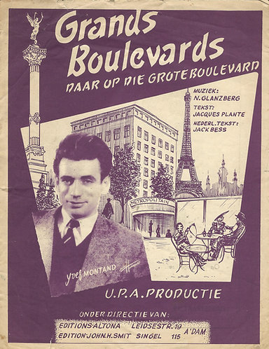 Yves Montand | Jacques Plante | Grands Boulevards | Piano | Vocals