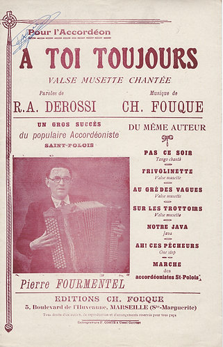 Ch. Fouque | A Toi Toujours | Piano | Accordion | Vocals