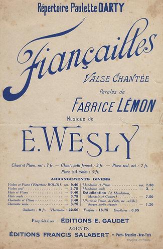 Paulette Darty | Emile Wesly | Fiancailles | Chanson