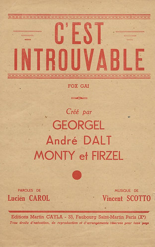 Georgel | Vincent Scotto | C'est Introuvable | Chanson | Vocals