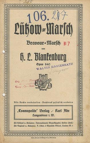 H.L. Blankenburg | Lutzow Marsch | Opus 840 | Piano