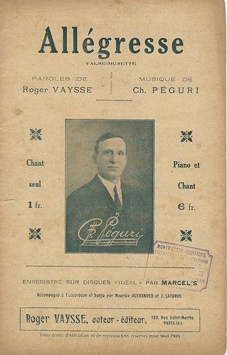 Ch. Peguri   Roger Vaysse   Allegresse   Chanson