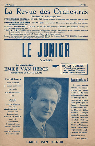 Emile van Herck | Le Junior | Accordion | Piano