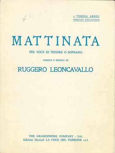 Ruggero Leoncavallo   Mattinata   Piano   Vocals