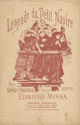 Edmond Missa | Georges Fragerolle | Legende du Petit Navire | Vocals