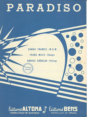 Connie Francis | Anneke Gronloh | Wolgang Zell | Paradiso | Piano | Vocals