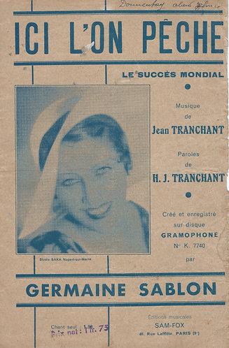Germaine Sablon   Jean Tranchant   Ici L'on Peche   Chanson