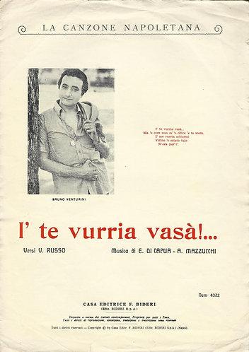 E. di Capua | A. Mazzucchi |  I' te vurria vasa | Piano | Vocals