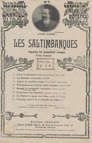 Louis Ganne   Maurice Ordonneau   Les Saltimbanques   C'est l'amour   Chanson