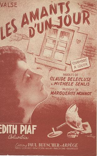 Edith Piaf | Marguerite Monnot | Les amants d'un jour | Chanson