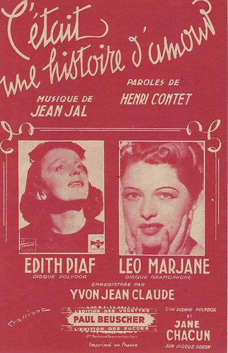 Leo Marjane | Edith Piaf | Jean Jal | C'etait une histoire d'amour | Chanson