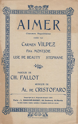Albert de Christofaro   Aimer   Chanson