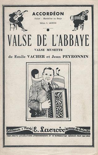 Emile Vacher | Jean Peyronnin | Valse de l'Abbaye | Accordion | Violin