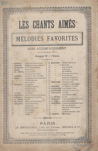 J. Massenet | Serenade du Passent | Chanson