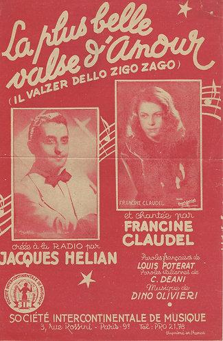 Jacques Helian | Dino Olivieri | La plus belle valse d'amour | Vocals