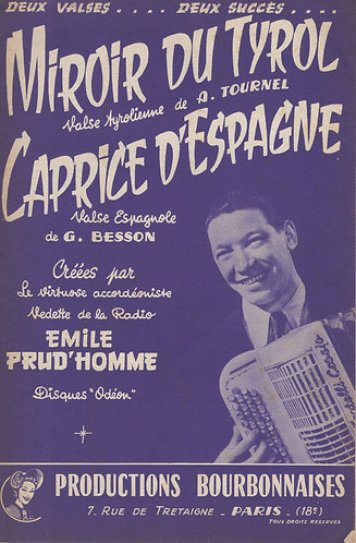 Armand Tournel | Emile Prud'homme | Miroir du Tyrol | Piano | Accordion
