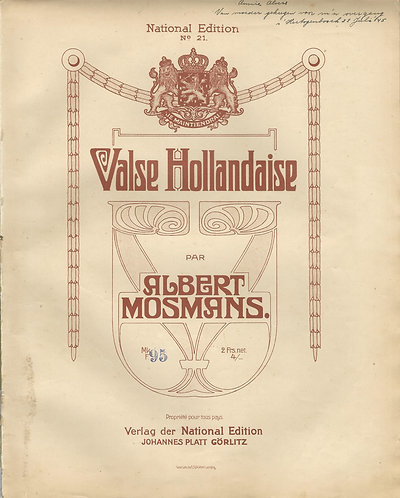 Albert Mosmans | Valse Hollandaise | Piano | Vocals