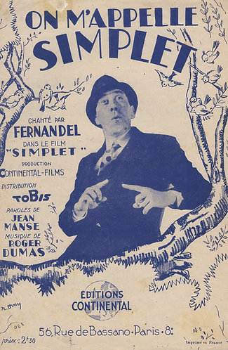 Fernandel | Roger Dumas | On m'appelle simplet | Chanson