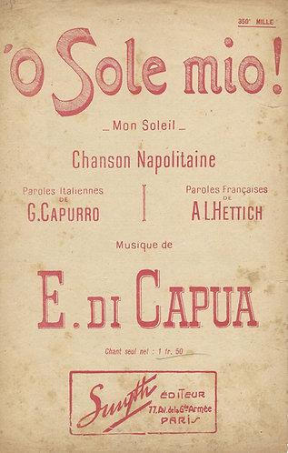 E. di Capua | O Sole mio | Vocals