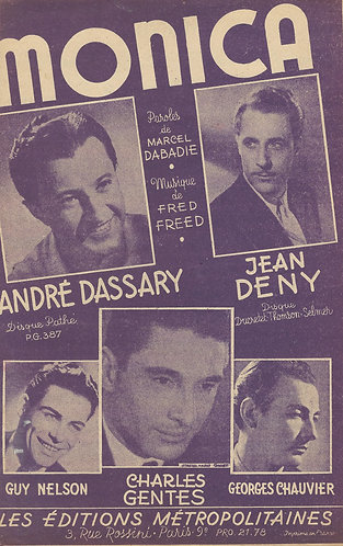 Andre Dassary   Jean Deny   Fred Freed   Monica   Vocals