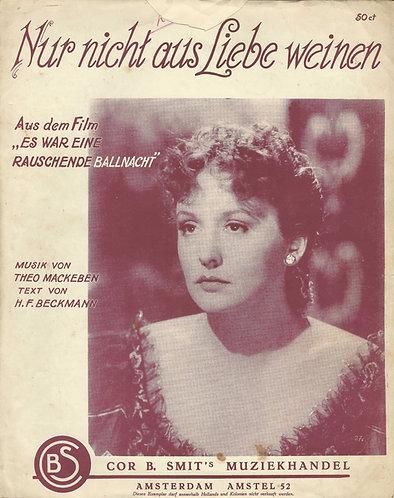 Zarah Leander   Theo Mackaben   Nur nicht aus Liebe weinen   Piano   Vocals