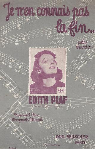 Edith Piaf | Marguerite Monnot | Je n'en connais pas la fin | Chanson