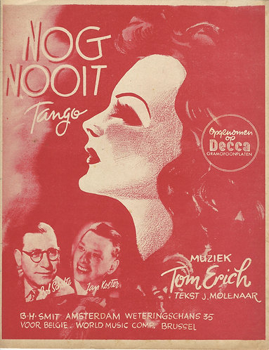 Bob Scholte | Tom Erich | Nog Nooit | Piano | Vocals