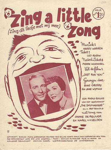 Bing Crosby | Harry Warren | Zing a little zong | Piano | Vocals