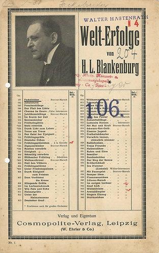 H.L. Blankenburg | Fackelreiter | Opus 179 | Piano