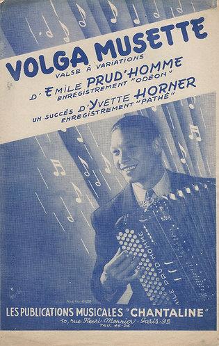Emile Prud'homme   Jack Ledru   Volga Musette   Accordion   Piano
