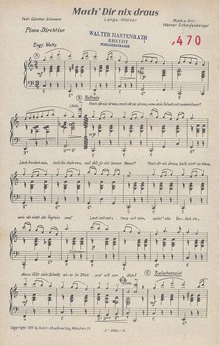 Werner Scharfenberger | Mach' Dir nix draus | Piano | Vocals